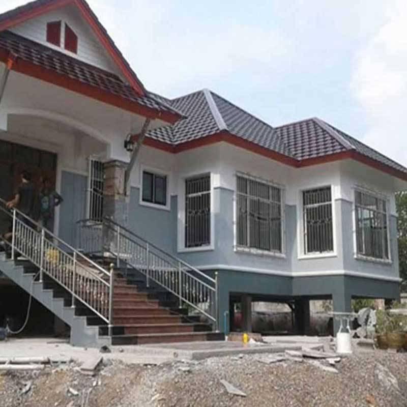 รับเหมาก่อสร้างบ้านพักอาศัย 2 ชั้น